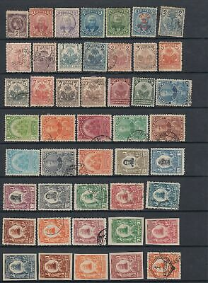 Haiti early collection, 74 stamps.