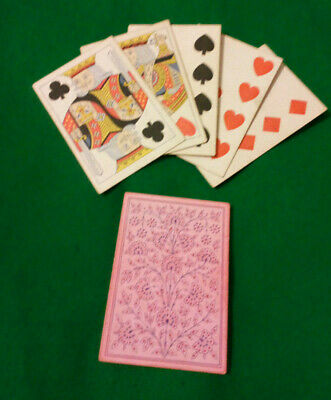 CIVIL WAR / WILD WEST period  LUCKY Poker hand FULL HOUSE 9 & Ks  Playing Cards