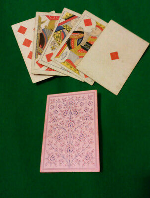 CIVIL WAR/ WILD WEST period LUCKY Poker hand ROYAL STRAIGHT FLUSH Playing Cards