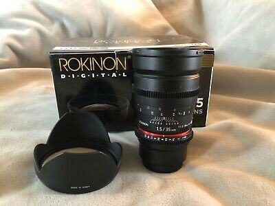 Rokinon Cine DS 35mm T1.5 AS IF UMC Full Frame Cine Lens for Micro Four Thirds