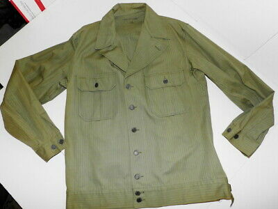 WW2 US Army GI M-1941 1st pattern HBT Field JACKET 42L size ULTRA-CLEAN! CRISP!