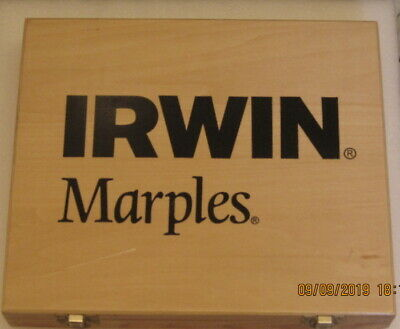 New Irwin/Marples 8 Piece Protouch Chisel Set in wooden Box
