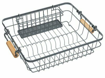 Living Nostalgia WIRE Metal DISH RACK and CUTLERY DRAINER