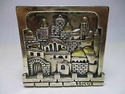 Antique 925 Sc Sterling Silver Candle Holder Jerusalem Cube Karshi Home Decor
