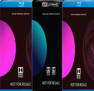 Dolby ATMOS Blu-Ray Demo Discs (3-pk Bundle)