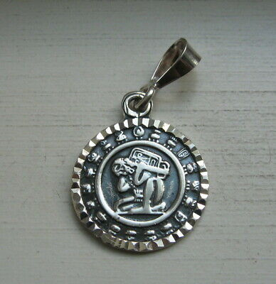 Vintage 950 Sterling Silver Taxco Mexico Aztec Mayan God Pendant TV-02