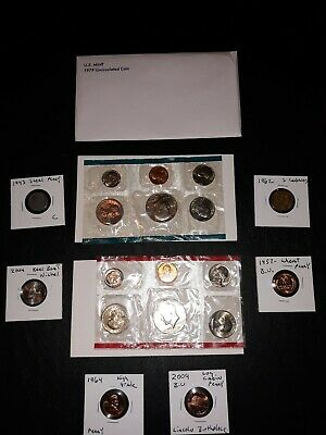 US COIN LOT COLLECTION 1979 MINT SET 1943 steel wheat 2 Susan $$ +no junk drawer