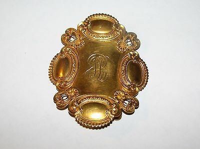 ORNATE ANTIQUE EDWARDIAN VICTORIAN REPOUSSE 14K GOLD BELT SASH RIBBON BUCKLE 33g