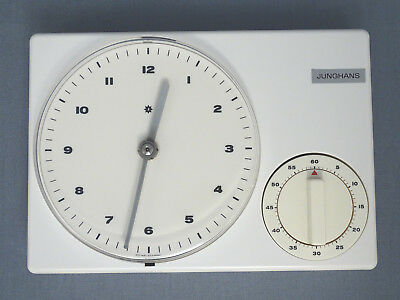 Junghans Wall Clock with Timer 60er Years Bill Age