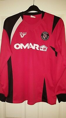 Mens Football Shirt - Histon FC - English - PLAYER MATCH WORN #10 - Long Sleeve
