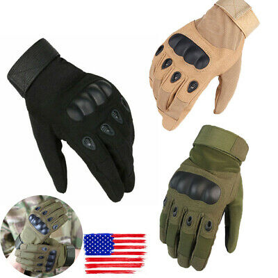 Full Finger Army Military Hunting Shooting Gloves Hard Knuckle Unisex Gloves