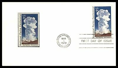 Wyoming Yellowstone Nacional Parque Centenario FDC 1972 Nuevo Sello