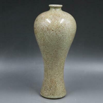 Chinese ancient antique hand make open  slice Plum blossom vase 34