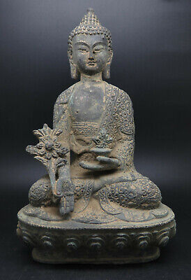 Ancient Bronze Gandhara Buddha Statue Big Size