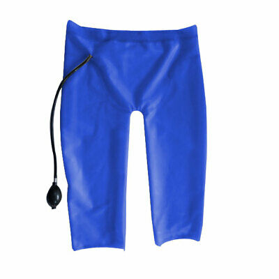Latex Pants 100% Rubber Latex-Shorts Suit Dark blue Gummi Unisex Hosen S-XXL