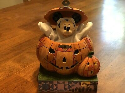Disney Halloween Mickey Beware of the Pumpkin Patch Ghost 4016580 Jim Shore