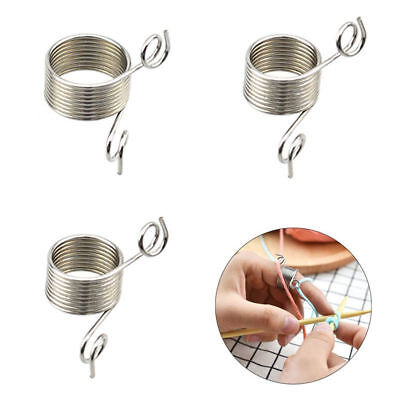 Knitting Braided Ring Tool Finger Thimble Yarn Needle Guide Sewing Accessories