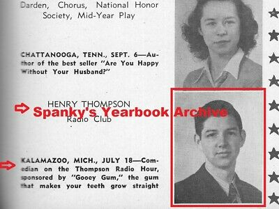 1940s High School Yearbook w/ senior HANK THOMPSON ~ The Brazos Valley Boys ~ ++