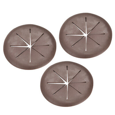 Cable Hole Cover 2-inch Soft Plastic Brown Desk Grommet for Wire Organizer 3pcs