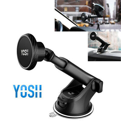 YOSH 360° Magnetic Car Phone Holder Mount Dashboard Windshield Fr iPhone 8 X 11