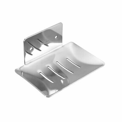 Soap Dish Holder Saver SUS304 Stainless Steel Wall Mounted Tray (Bright Silver)
