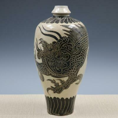 Chinese ancient antique hand make Dragon pattern vase s11