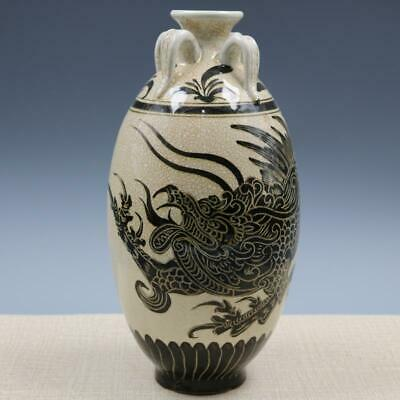 Chinese ancient antique hand make Dragon pattern vase s12