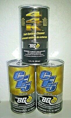 3 cans of BG 44k Fuel System cleaner & CF5 Fuel Supplement, PN 203 & 208, NEW