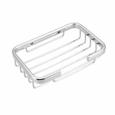 Soap Basket Dish Holder SUS304 Stainless Steel Wall Mounted Tray (Silver)