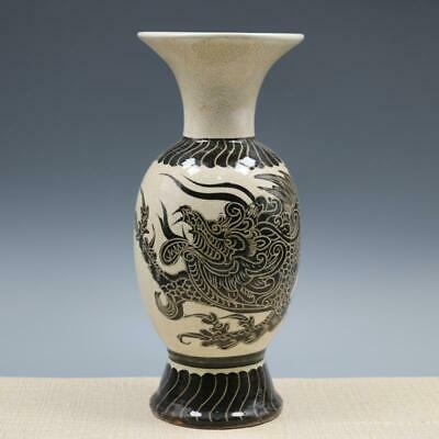 Chinese ancient antique hand make Dragon pattern vase s13