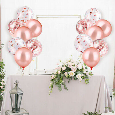 Rose Gold Confetti Latex Helium Balloons Wedding Hen Party Team Bride Decoration