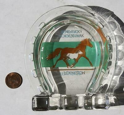 1970-80s Era Lexington,Kentucky Horse Park horseshoe shaped ashtray-VINTAGE!*