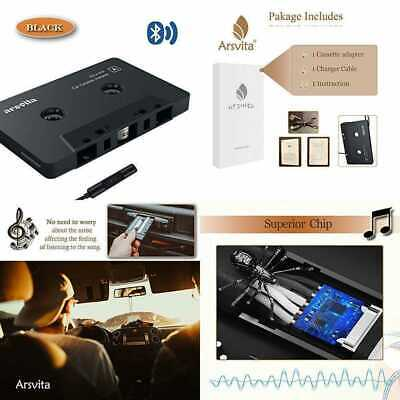 Car Audio Bluetooth Cassette Receiver Tape Player 5.0 Aux Adapter