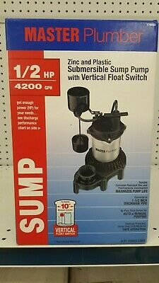 Master Plumber 1/2 Hp Submersible Sump Pump ** New In Box **
