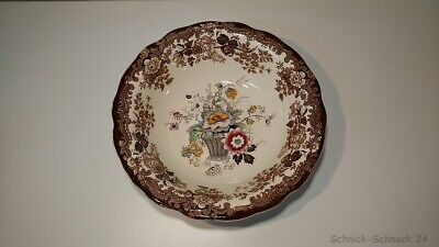 Royal Worcester Palissy Game Sonderserie: Floral Basket Schale #30670# #CH#