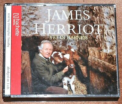 JAMES HERRIOT - VET IN HARNESS : 3xCD Audio Book, read by Christopher Timothy