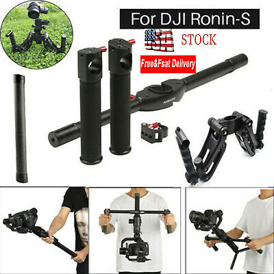 US Dual Handle Gimbal Handlebar&4 Axis Stabilizer& Extension Rod For DJI Ronin-S