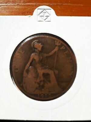 Dated : 1912 - One Penny - 1d Coin - King George V - Great Britain