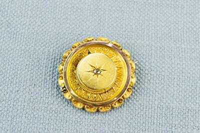 Target Brooch 15ct Gold Diamond Victorian Antique English Late 19th Century Shie