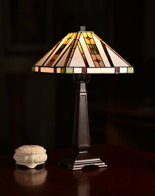 High Quality Stained glass Mission Tiffany Bedside Table Lamp