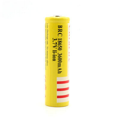 18650 3600mAh 3.7V BRC Rechargeable Li-ion Battery Lithium For FLashlight Torch