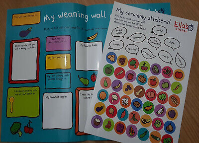 Ellas Kitchen weaning wall chart with fun stickers