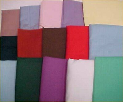 Mix Lot Vintage Cotton Quilt Fabric ALL Solids Quilters Material Sew Estate 3 Lb