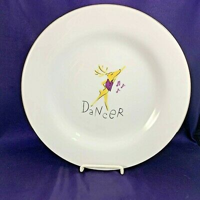 "Pottery Barn REINDEER Dinner Plate 11 1/8"" Dancer"