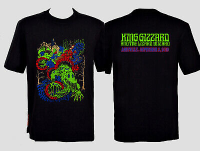king gizzard and the lizard wizard asheville sept 3, 2019 t shirt