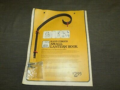 Vintage Plants Anvil Chorus Hand Forged Wrought Iron Small Lantern Hook New Nos