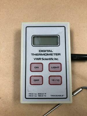 VWR Scientific Digital Lab Thermometer with Probe TESTED