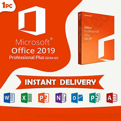 Microsoft Office 2019 Professional Plus 32/64 Bit - Lifetime License Genuine Key