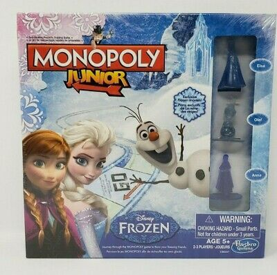 Monopoly Junior Disney Frozen Board Game Hasbro for Ages 5+ Elsa/Anna/Olaf New
