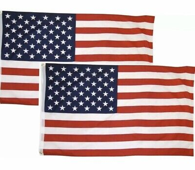(2 PACK!) 3x5 Ft American Flag w/ Grommets USA United States of America US Flags